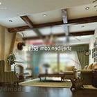 Mid Century Modern Living Room Interior