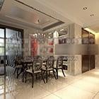 Moderni kodin ruokasalin sisustus