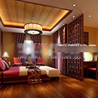 Interno sud-est asiatico della camera da letto V3