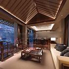 Kinesisk stil Executive Office Interior