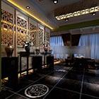 Leisure Club With Lighting Interior