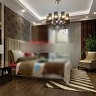 Wnętrze sypialni w europejskim stylu wiejskim