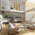 Modern Villa Living Room Interior