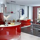 مطبخ مفتوح التصميم الداخلي