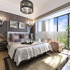 Big Windows Bedroom Design Interior