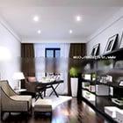 Interiore moderno di disegno della casa della stanza di studio