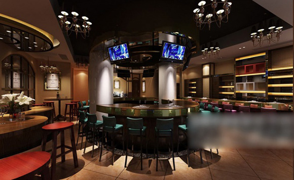 Industrial Bar Design Interior