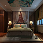 Ceiling Painting Chinese Style Bedroom Interior