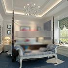 Interiér ložnice V2 se středomořským stylem
