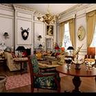 European Living Room Vintage Design Interior