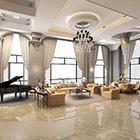 European Villa Big Living Room Interior