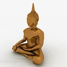 Ornamenti di Buddha in metallo argentato