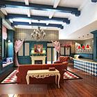 Interiér interiéru obývacího pokoje ve Středomoří
