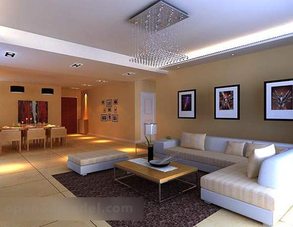 Modern Living Room Simple Design Interior 3d Model Max Vray Open3dmodel 328515