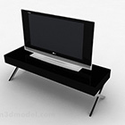 Tv nera con tavolo V1