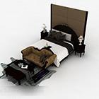 Evropská klasická manželská postel V1