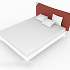 Jednoduchá bílá manželská postel V1