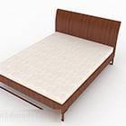 Jednoduchá dřevěná manželská postel V3