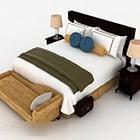 Domácí dřevěný design s manželskou postelí