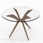 Rundt glas matborddesign V1