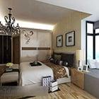 Slaapkamer kroonluchter meubels interieur