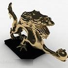Decorazione Scultura Drago Oro