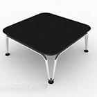 Černý malý konferenční stolek
