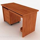 茶色の木製デスク家具