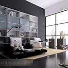 Modern studeerkamer interieur V5