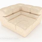 Meubles de canapé simple en cuir beige