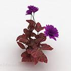 Garden Purple Flower Plant V1