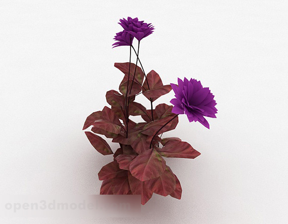 Garden Purple Flower Plant V1