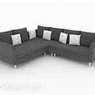 Mobili divani a più posti minimalisti nordici