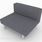 تصميم أريكة مفرد رمادي الشمال بسيطة V1
