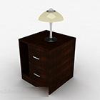 Jednoduchý noční stolek s lampou