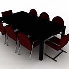 Minimalistisk trä matbordstol