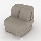 Grå Fabic enkel enkel soffa
