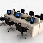 Büro einfache Schreibtisch und Stuhl Workstation