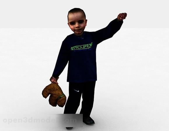 Little Boy Walking Character