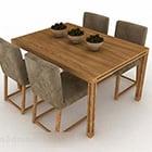 Matbord och stolträdesign