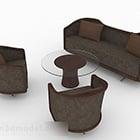 Brown Combination Sofa Chair