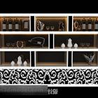 خزانة عرض Mdf بيضاء