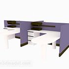 パープルデスクオフィス家具