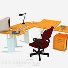 كرسي مكتب عمل مكتب أصفر اللون