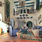 Woonkamer Mediterraan interieur
