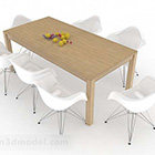 Enkel matbordstolsuppsättning