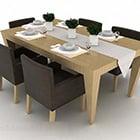 Modern minimalistisk matbordstoluppsättning