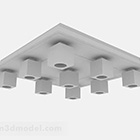 Gray Cubic Ceiling Lamps