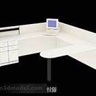 Toimistopöytä, valkoinen maali