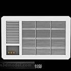 Unité extérieure de climatiseur blanc
